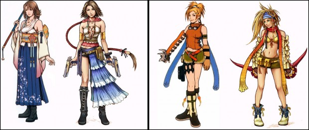 FFX-2 Yuna and Rikku Redesigns