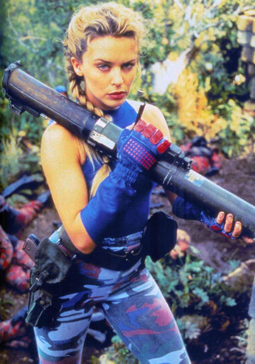 Kylie Minogue as Cammy in the SF live action film