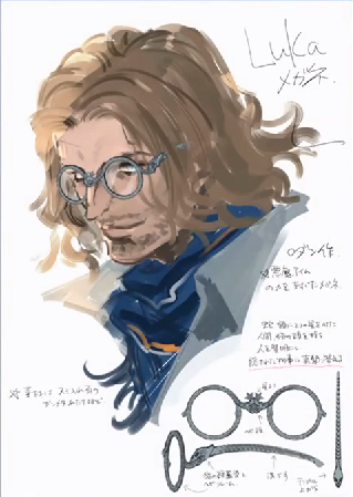 Luke with glasses, from Bayonetta 2