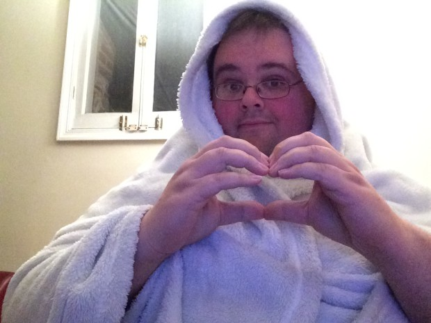 """Blanket Heart"" selfie"